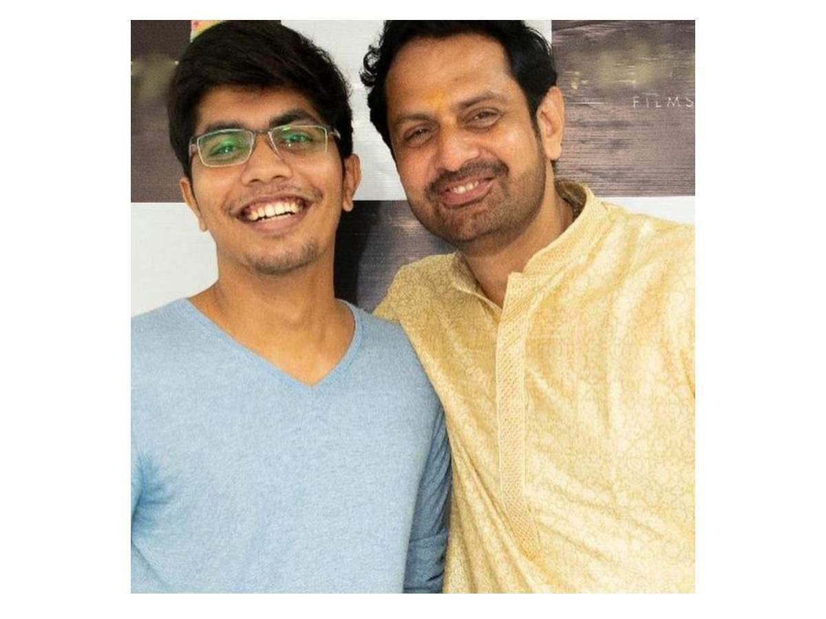 Rudra Kaushish with his son