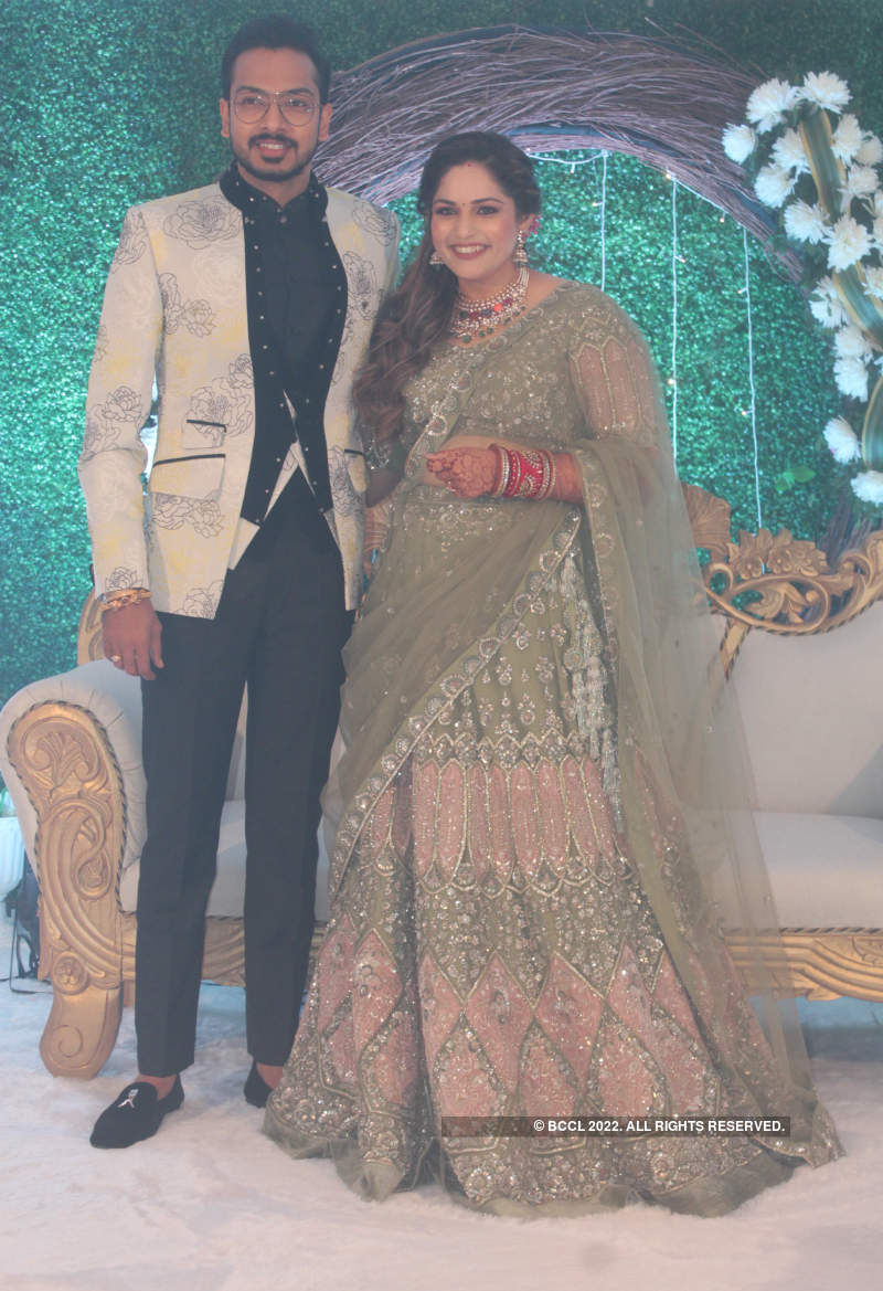 Shreyas Puranik and Aishwarya Bhandari's wedding reception