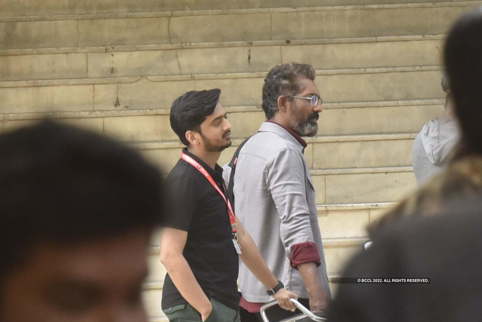 Amey, Nagraj and Akshayaa spotted shooting in the city