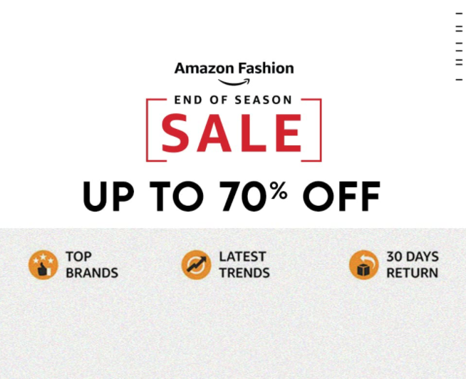 Season End Sale- Upto 70% off on fashion and more