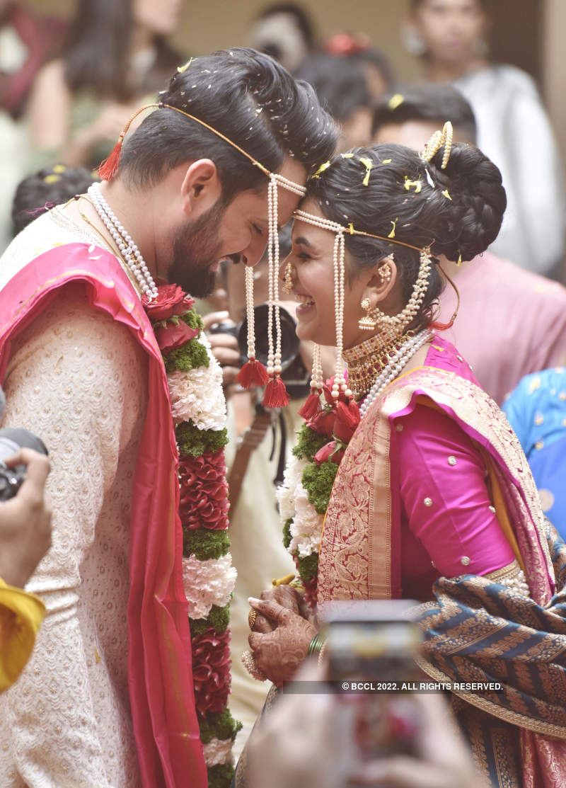 It was a star-studded wedding for Siddharth Chandekar and Mitali Mayekar