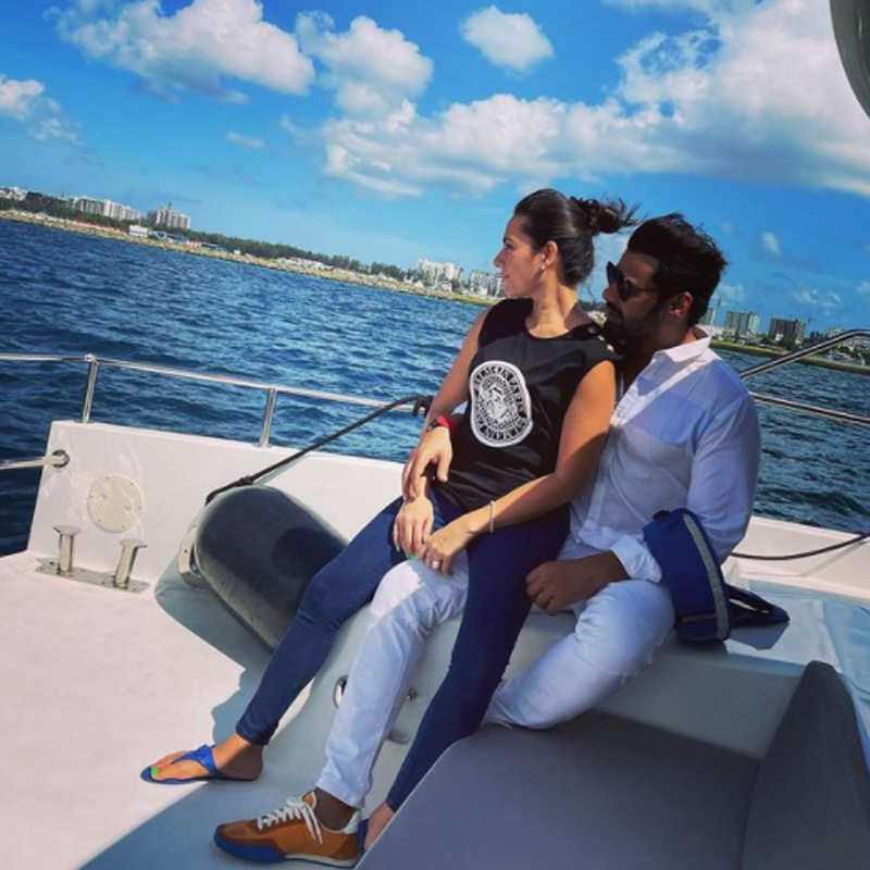 Shabir Ahluwalia and Kanchi Kaul's Maldives vacation pictures go viral