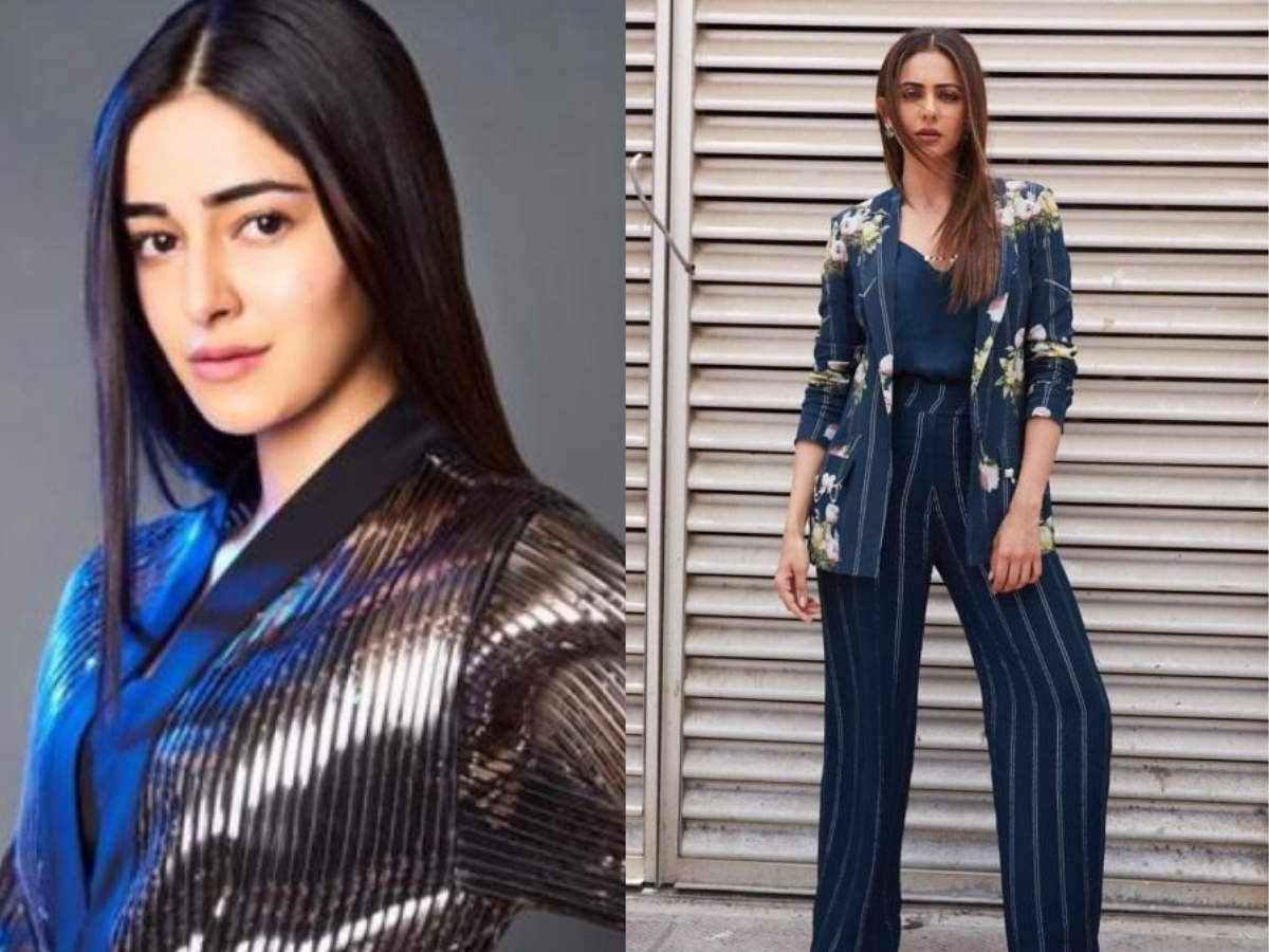 From Ananya Panday to Rakulpreet Singh: Here's how Bollywood ladies are making blazers look chic and stylish  | The Times of India