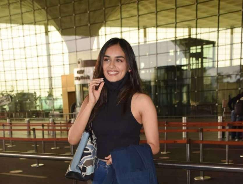 Manushi Chhillar Leaves For Maheshwar To Shoot For Her Untitled Next