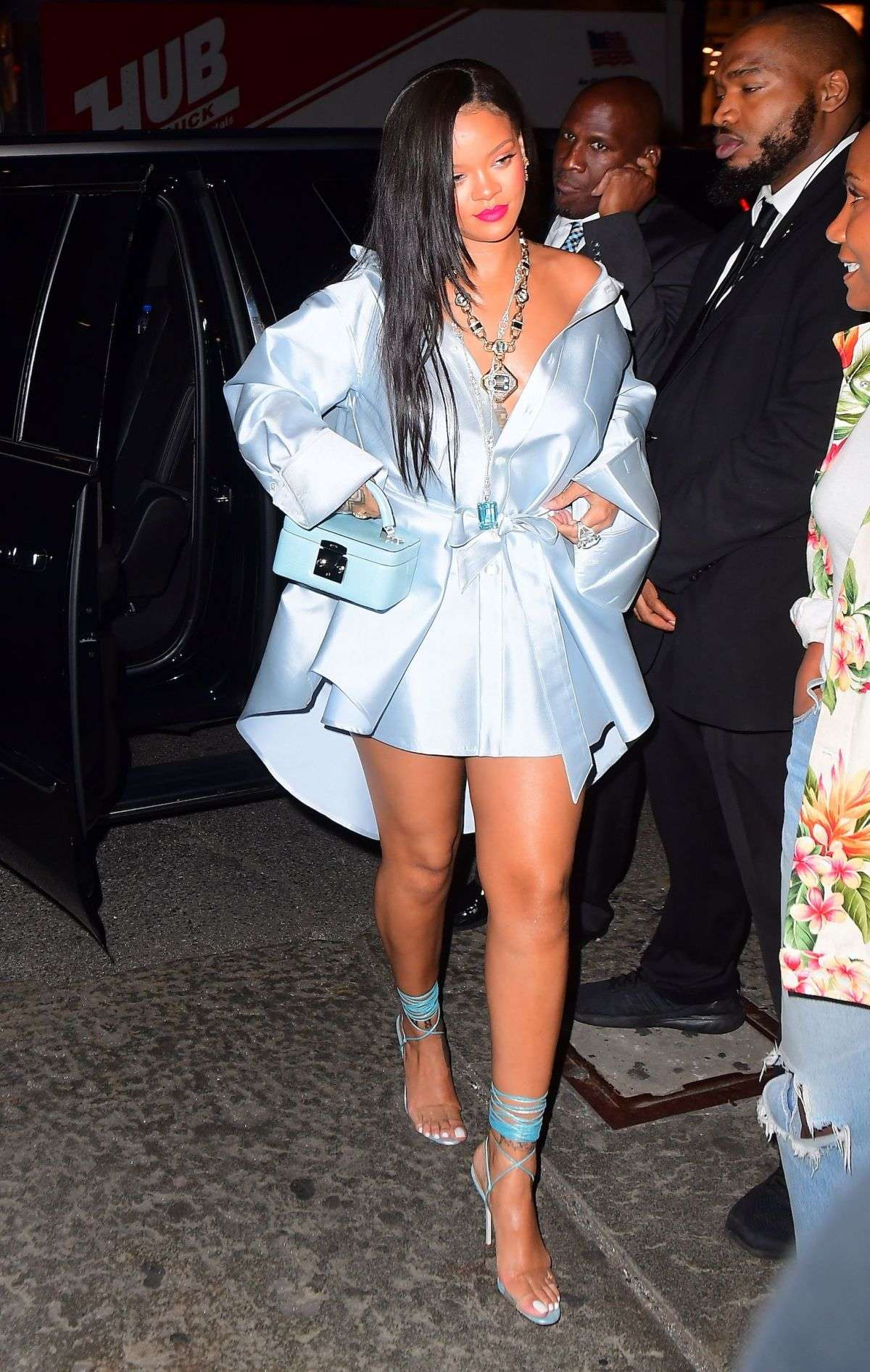 Rihanna wows in an array of stunning outfits when she is not entertaining her fans