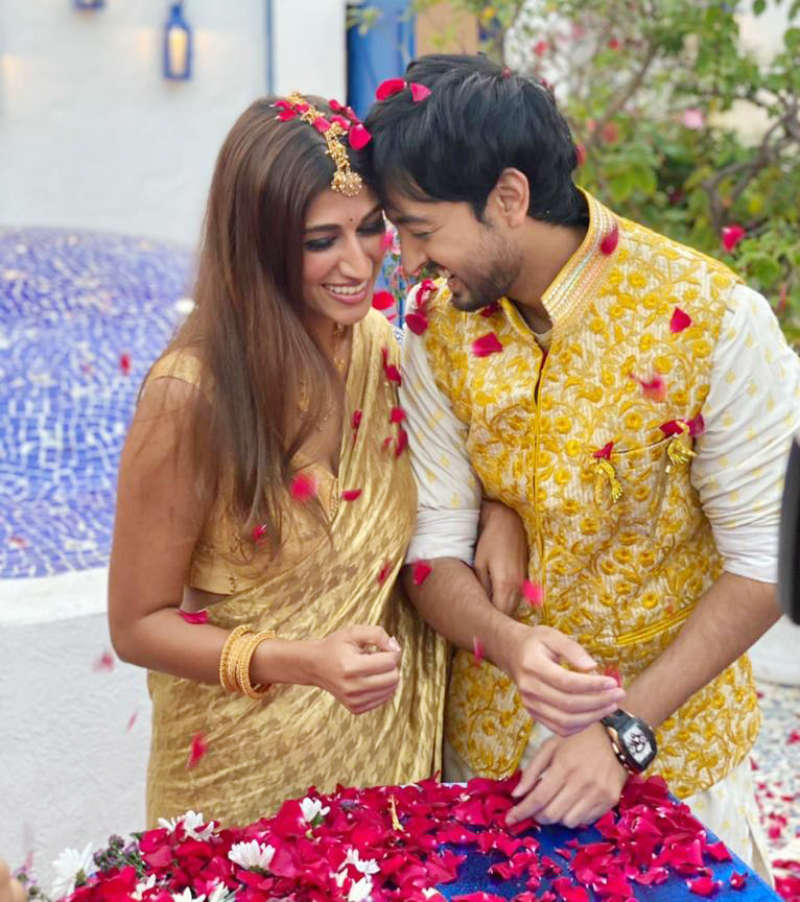 Inside pictures from Priyaank Sharma and Shaza Morani's wedding