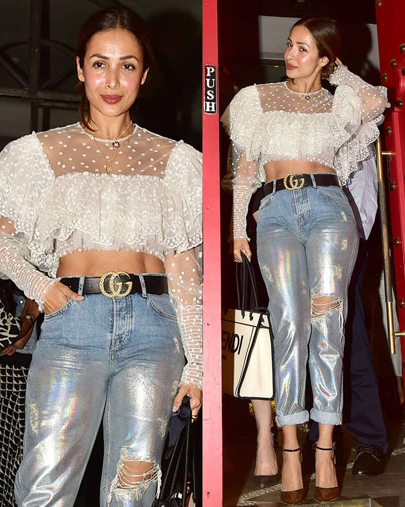 New stylish pictures of Malaika Arora from her dinner outing