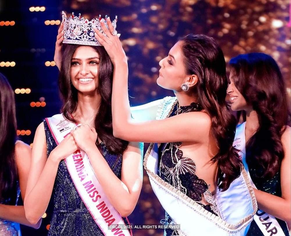 Manasa Varanasi - VLCC Femina Miss India World 2020: Crowning Moment