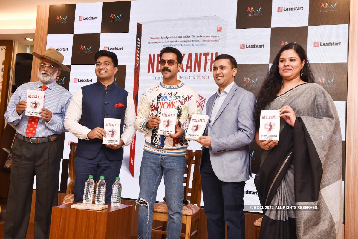 Rajkummar Rao attends the launch of Satyam & Rajeev's book