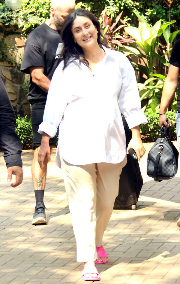Pregnant Kareena Kapoor steps out for shooting just days before delivery