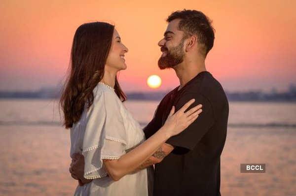 Valentine's Day: Anushka Sharma shares lovey-dovey picture with husband Virat Kohli - Times of India