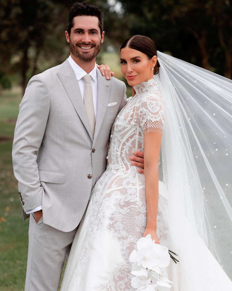 Former Miss World Australia Erin Holland and cricketer Ben Cutting get married