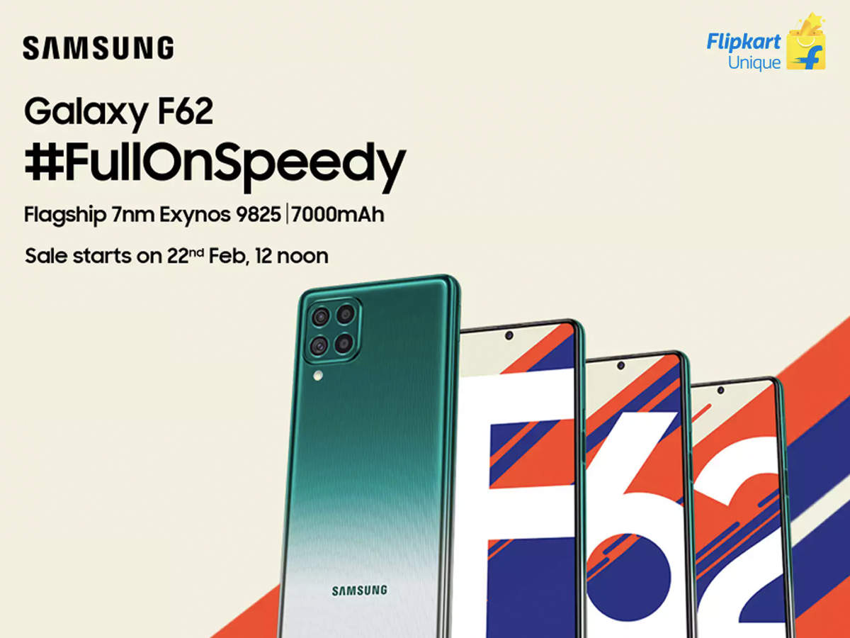 Galaxy F62 launched; will sell from 22 Feb at 24k