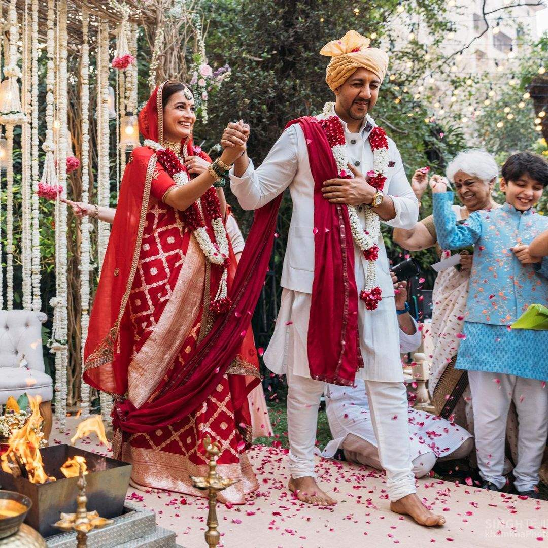 In Pics: Dia Mirza ties the knot with Vaibhav Rekhi