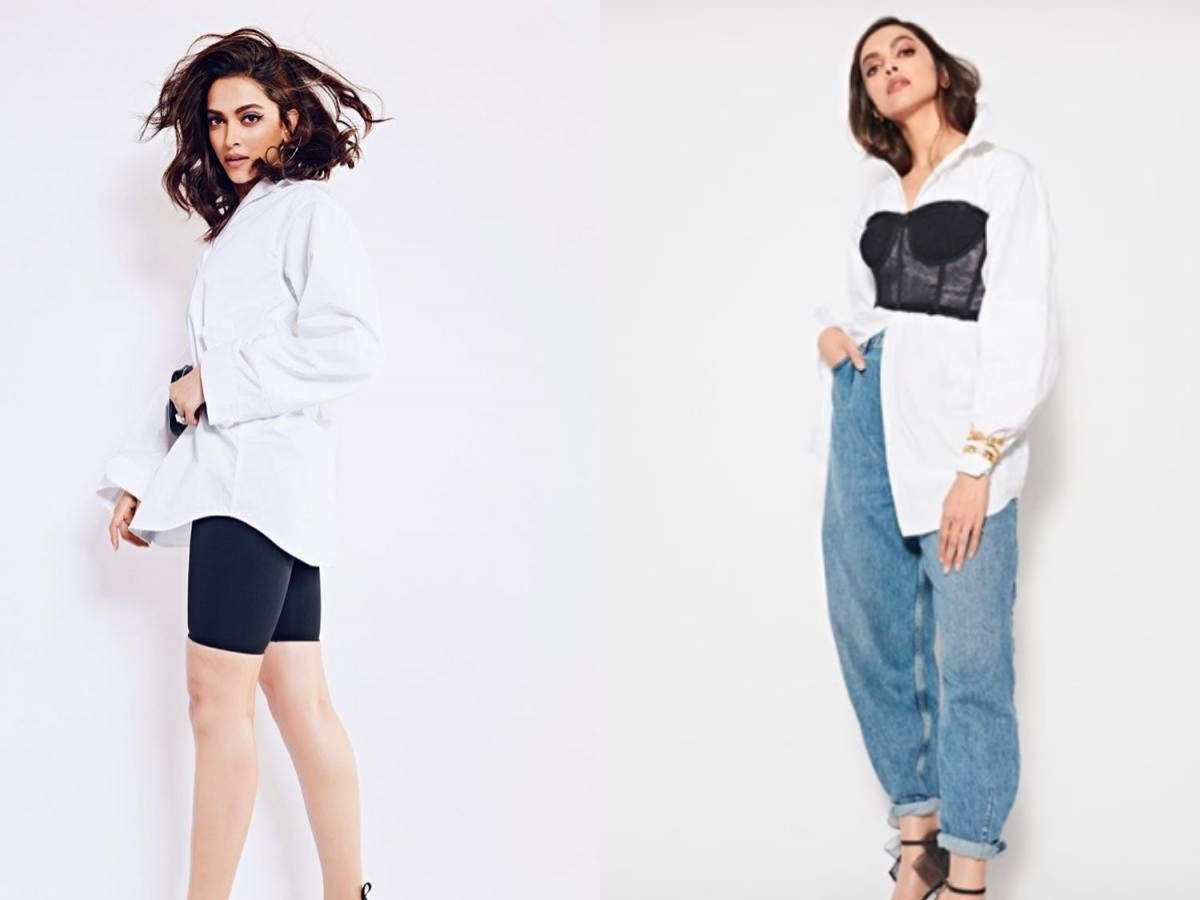 How to style your basic white shirt like Deepika Padukone    The Times of India