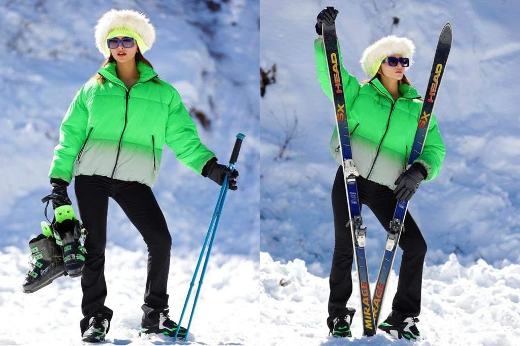 Urvashi Rautela celebrates her birthday month in Shimla, looks ski-ready