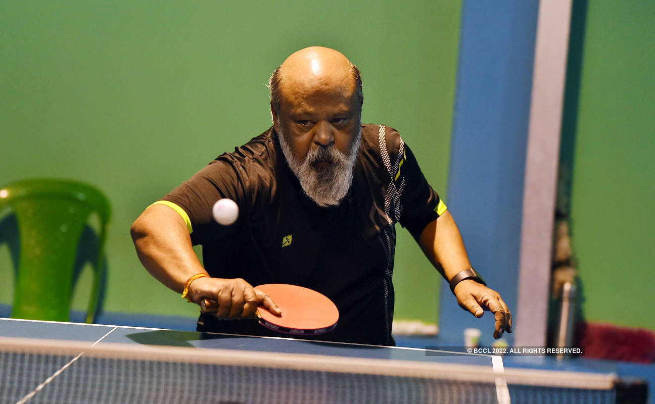 Saurabh Shukla enjoys a match at a Tennis Club