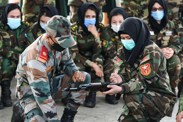 Women officers of Afghan National Army train in Chennai