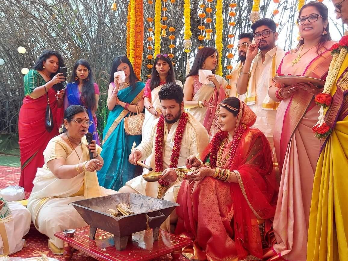 Bramaramba performing a marriage in bangalore.