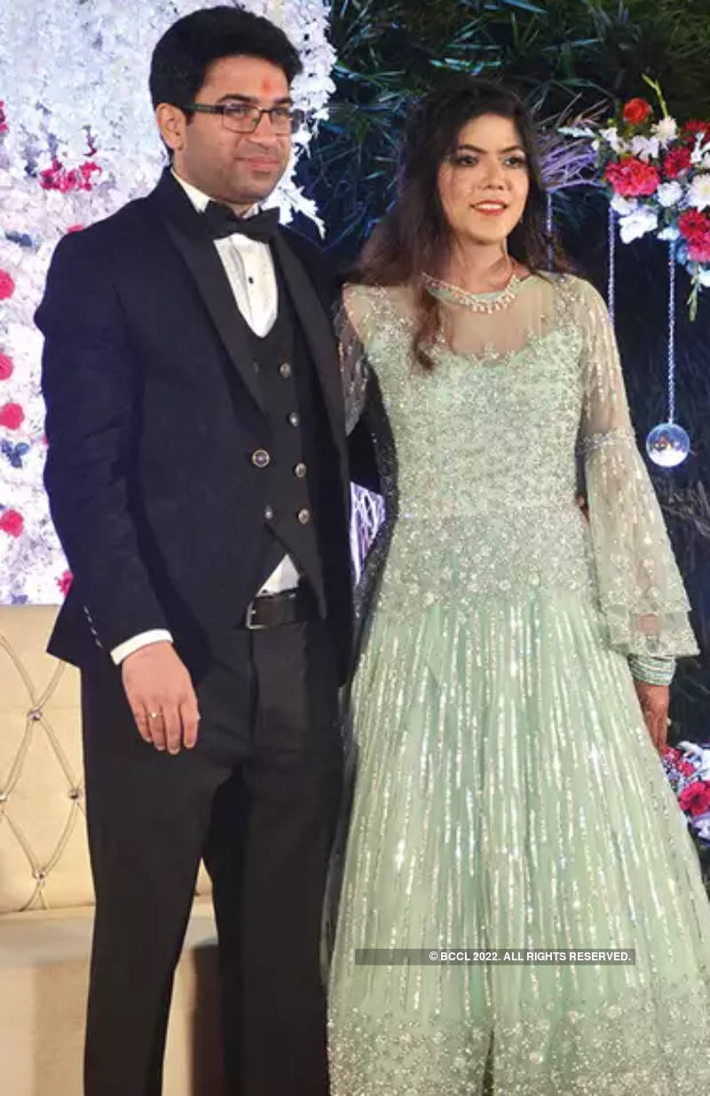 A glittering engagement for Shubhangee and Abhilash
