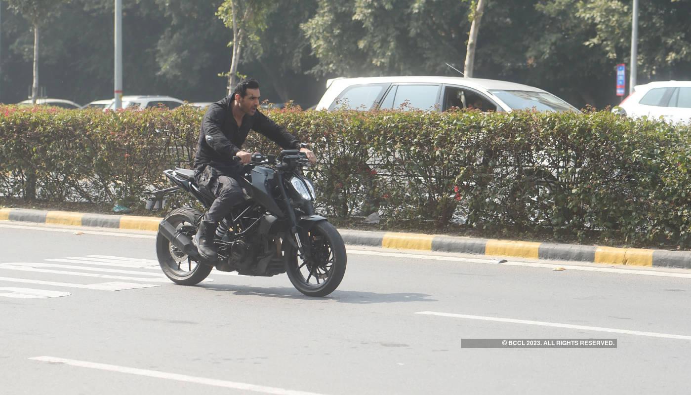 John Abraham shoots for Attack in Delhi