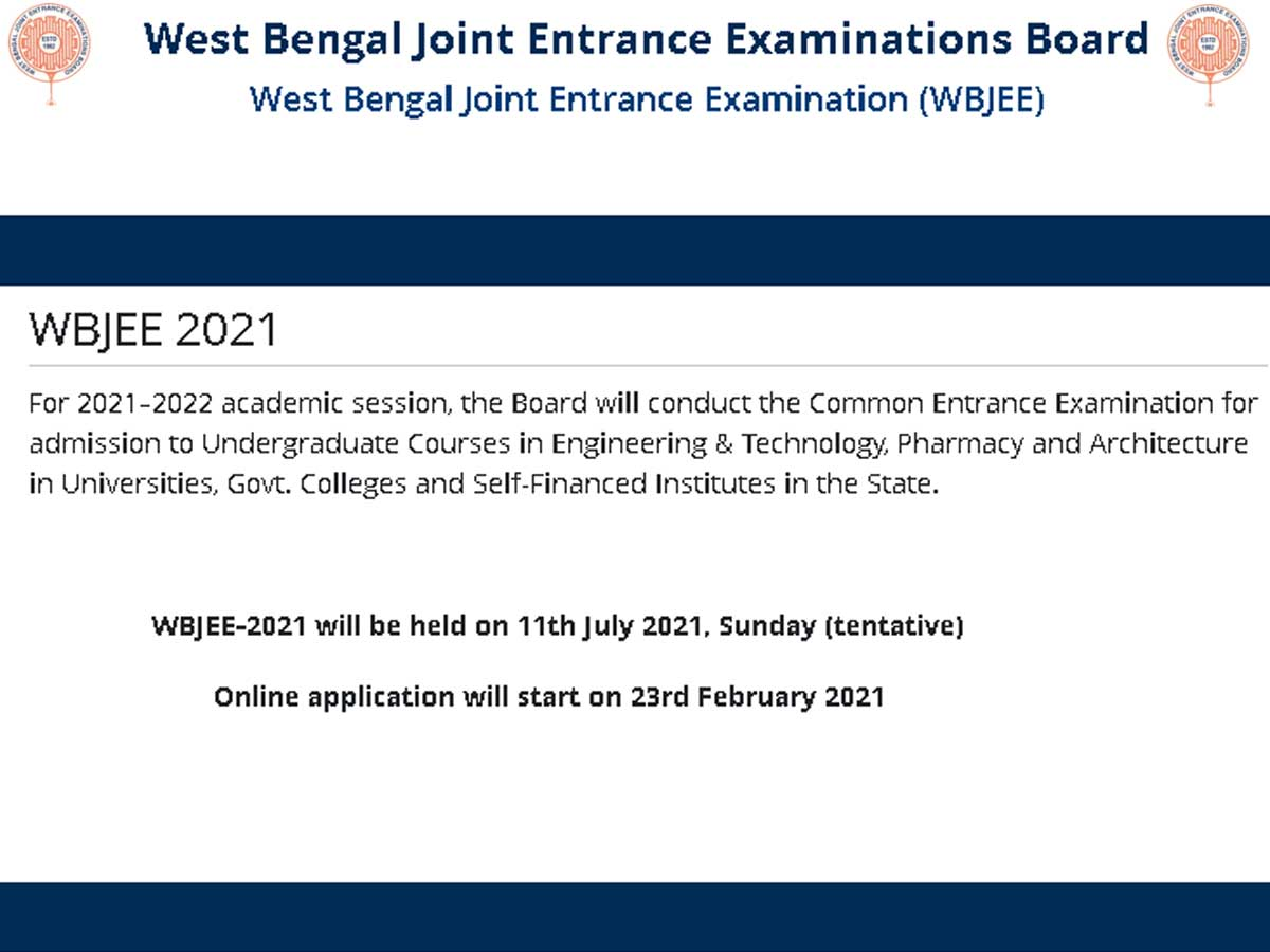 Alert: WBJEE 2021 application process starts today; check details here