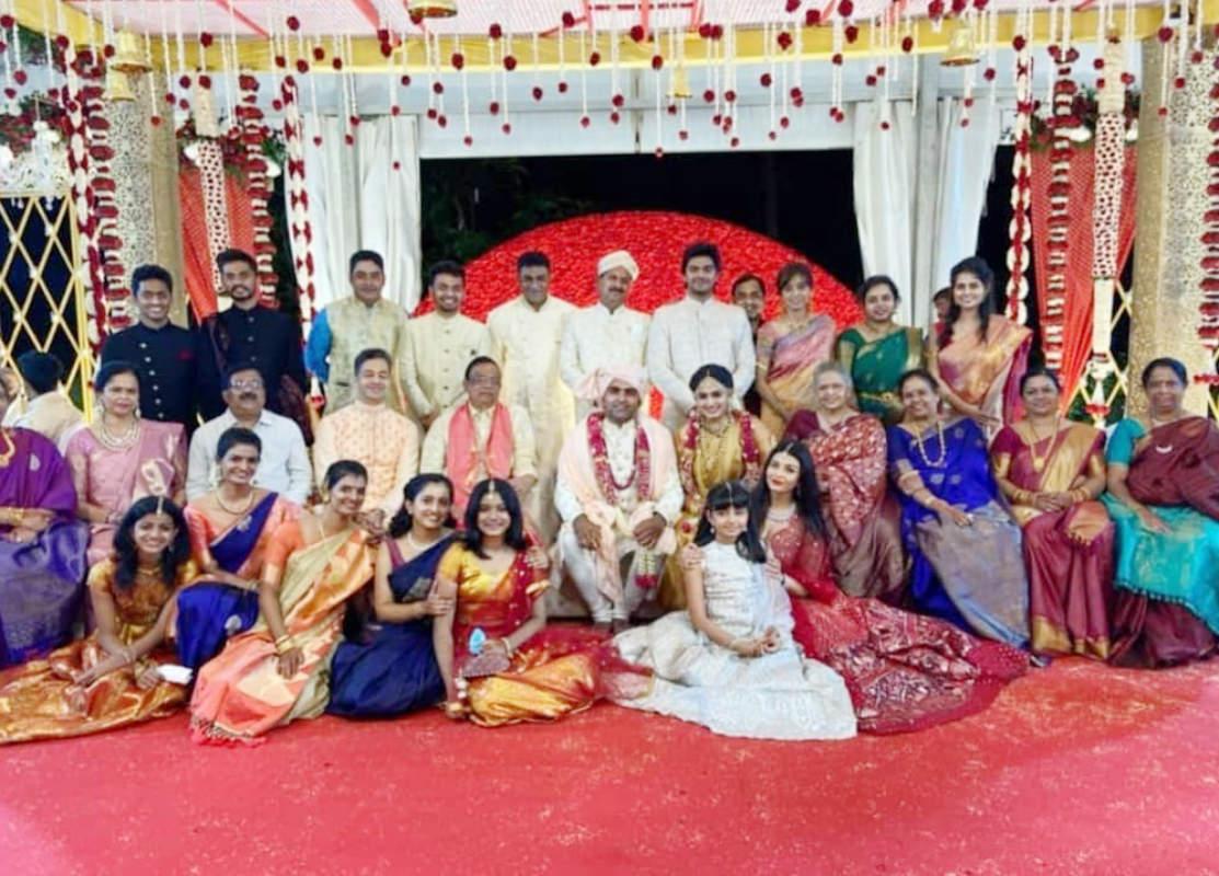 Aishwarya Rai & Abhishek Bachchan attend a family wedding with Aaradhya