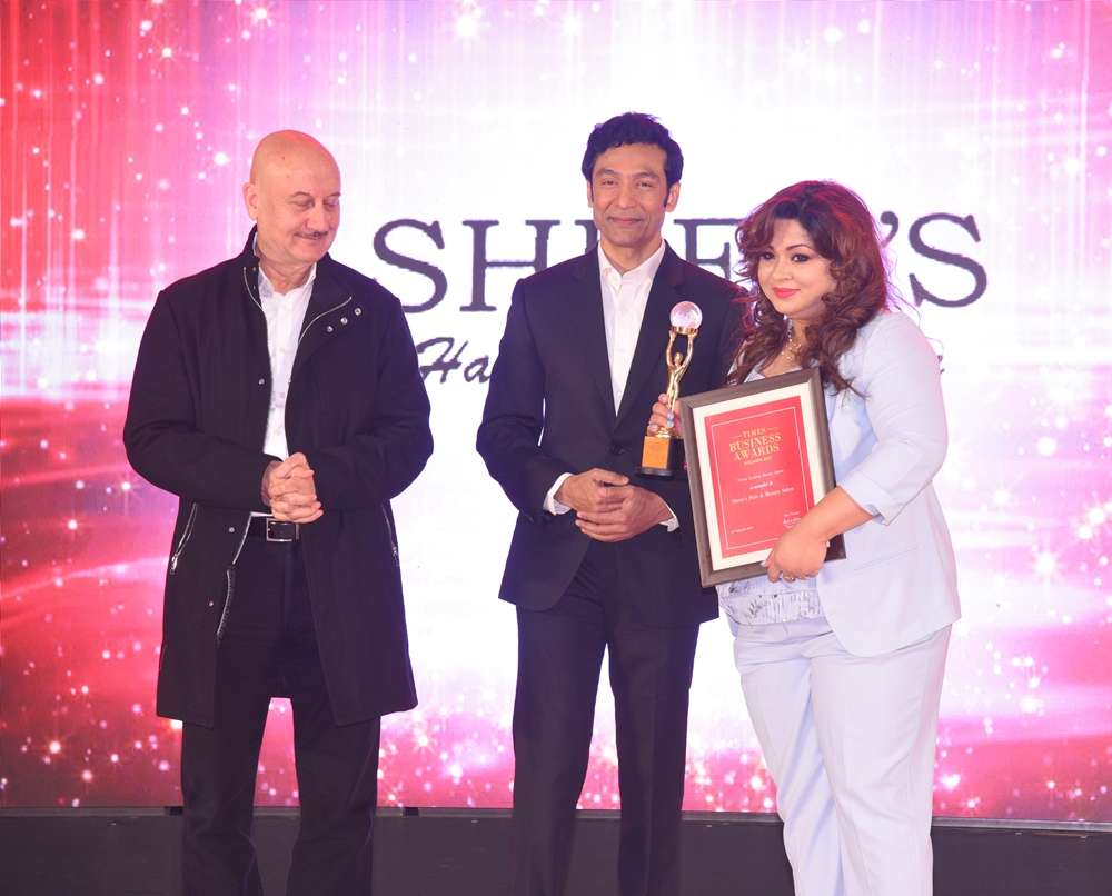 Shree's Hair & Beauty Salon Jashoshree Rahman award pic