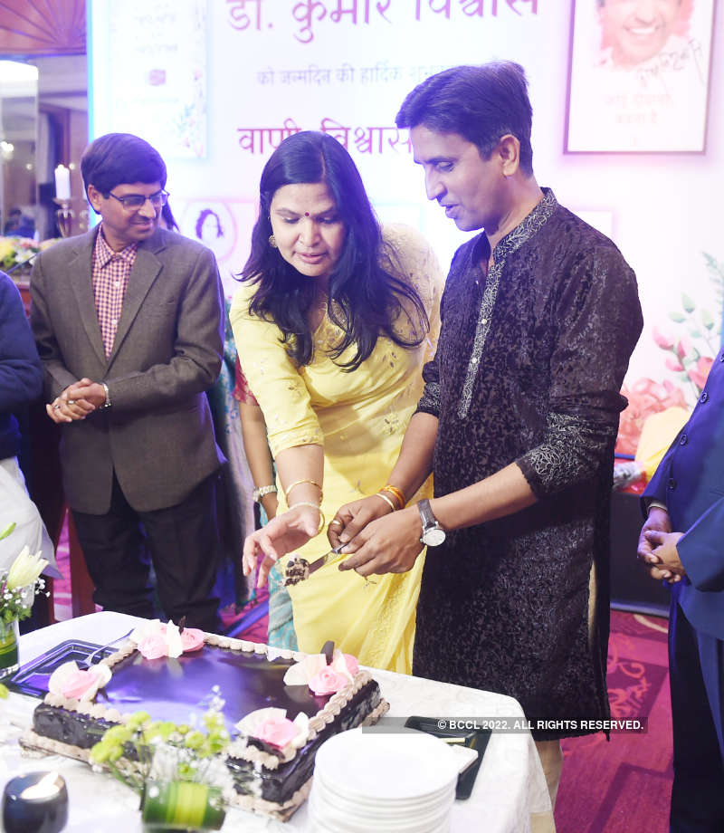 Discussions on literature, poetry and culture at Kumar Vishwas' birthday party