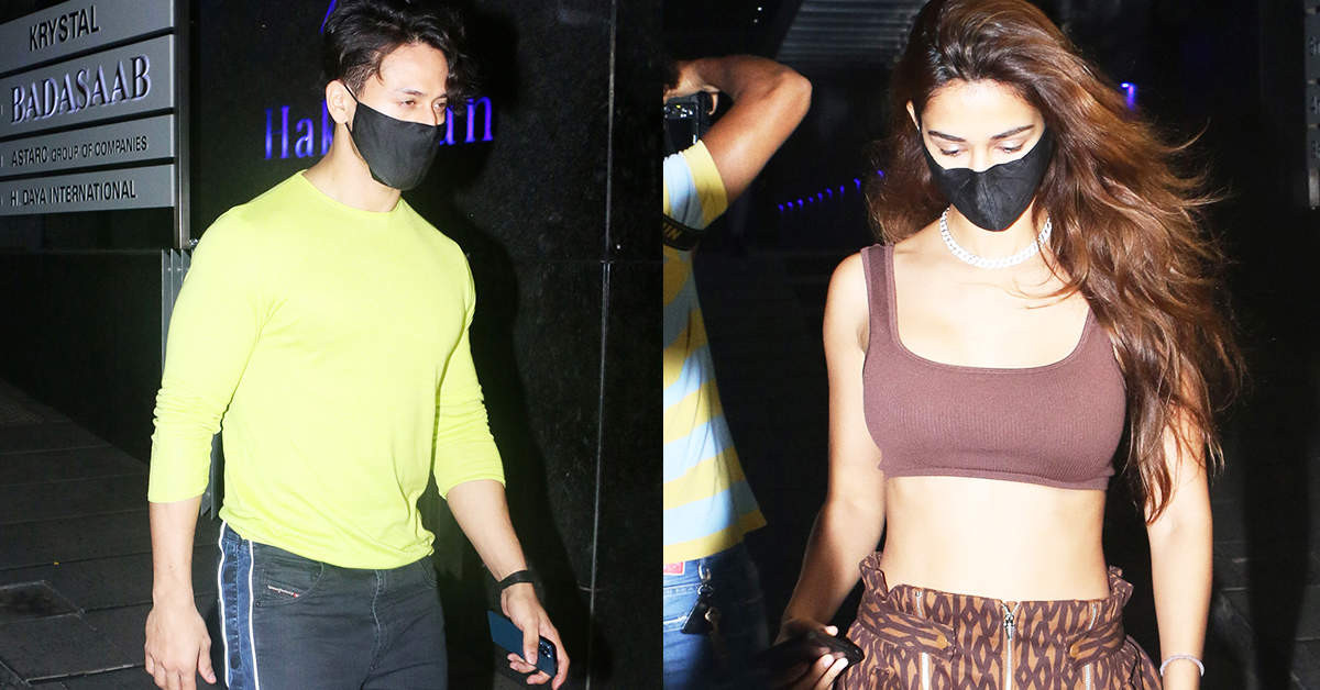 New pictures of Disha Patani & Tiger Shroff from their romantic dinner date