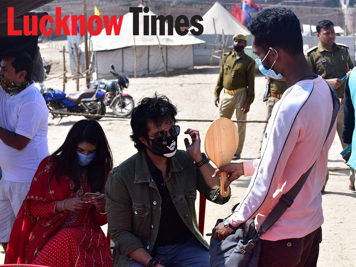 Arhaan and Pooja shot for Mann Ki Awaaz Pratigya 2 in Prayagraj recently (BCCL/ Amar Deep)