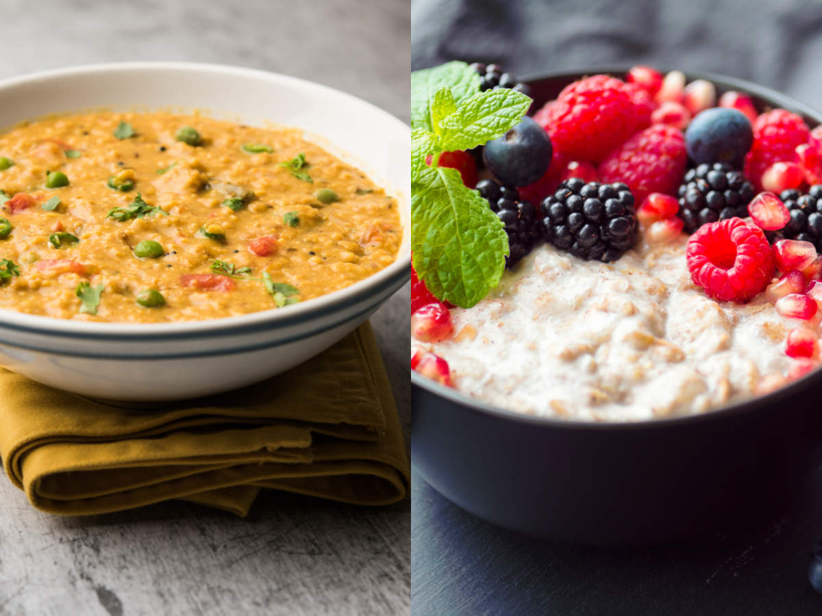 Vegetable oats versus milky oats: What's better for weight loss? - Times of India