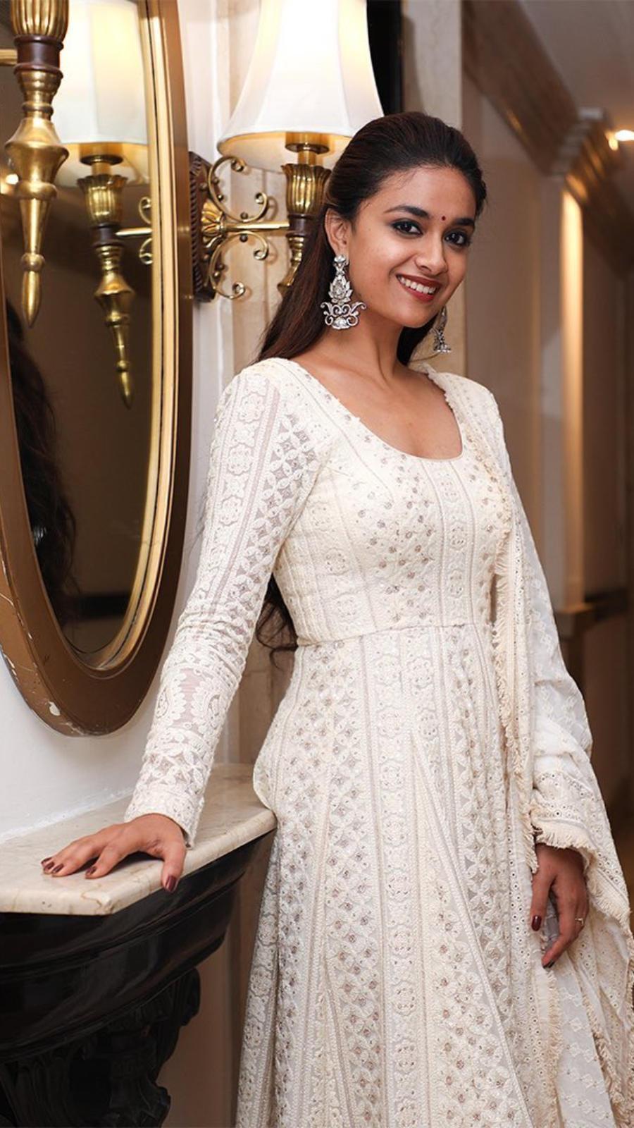 White Anarkali