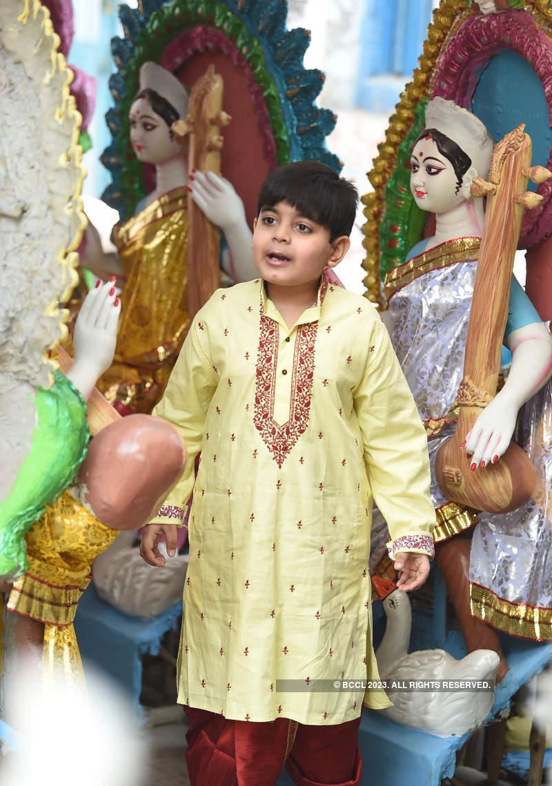 Tollywood kids celebrate Saraswati Puja in style