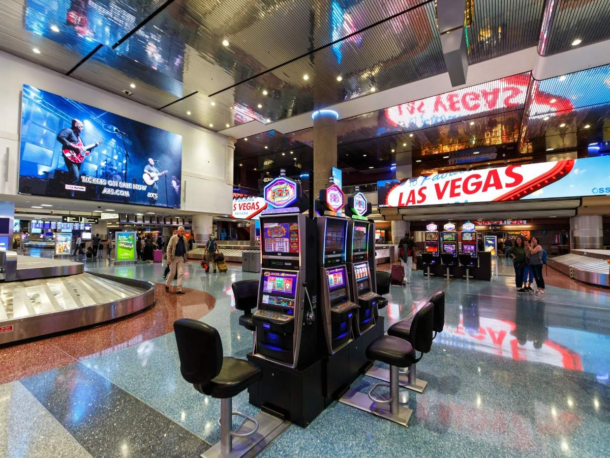 A woman just won $302000 on a slot machine at the Las Vegas airport