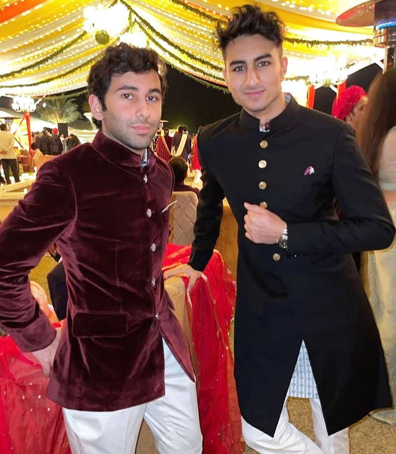 Ibrahim Ali Khan looks dapper in these unseen pictures from a friend's wedding
