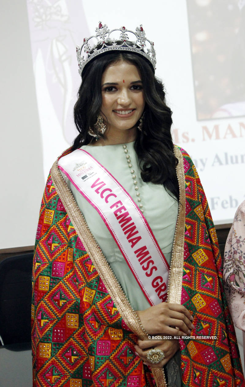 VLCC Femina Miss Grand India 2020 Manika Sheokand's homecoming ceremony