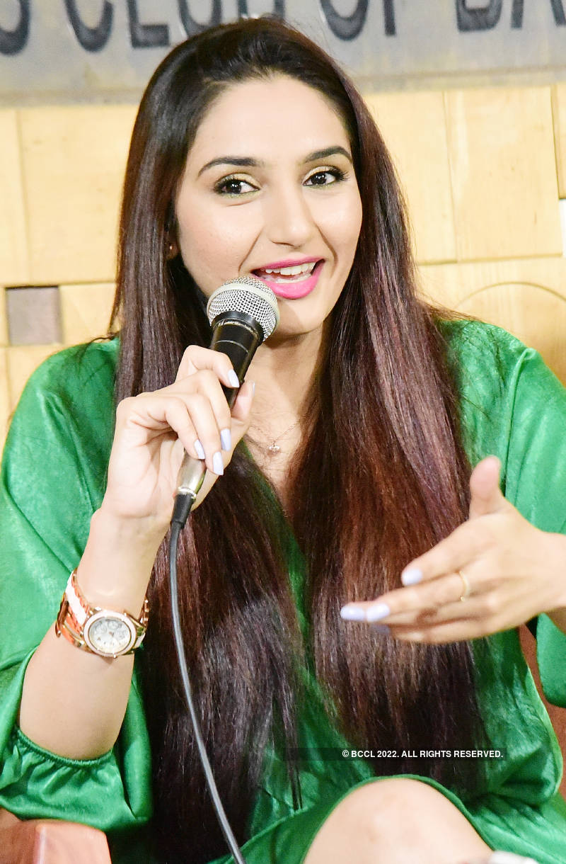 Ragini Dwivedi attends a press meet