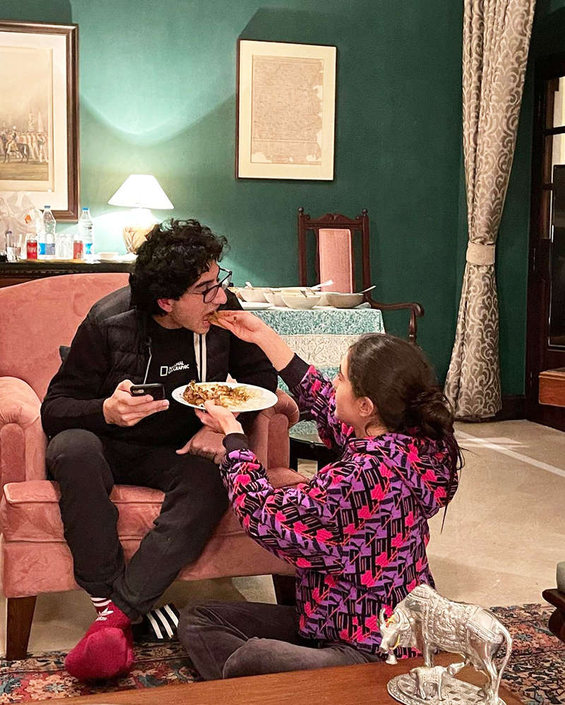 Sara Ali Khan wishes brother Ibrahim with these lovely pictures on his birthday