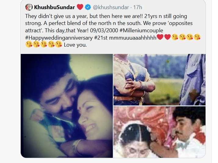 Kuhushbu's Twitter post