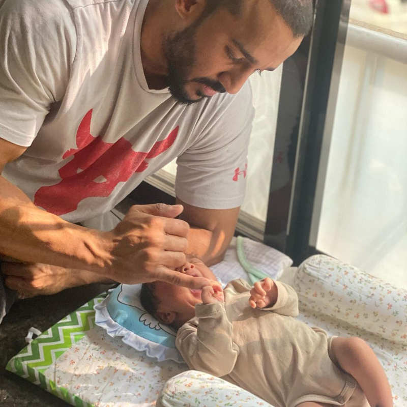 Pictures of Anita Hassanandani and Rohit Reddy's baby boy go viral