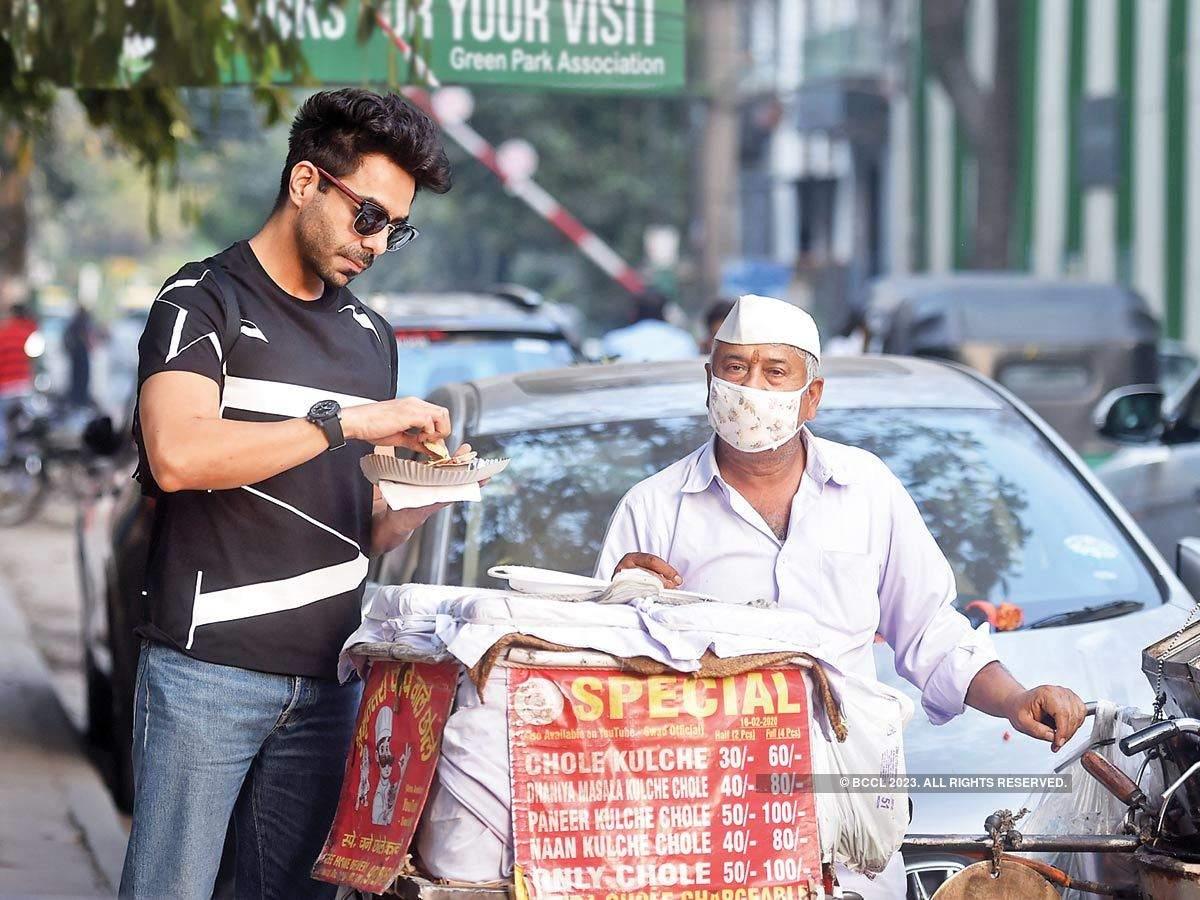 Aparshakti Khurana during his recent visit to Delhi