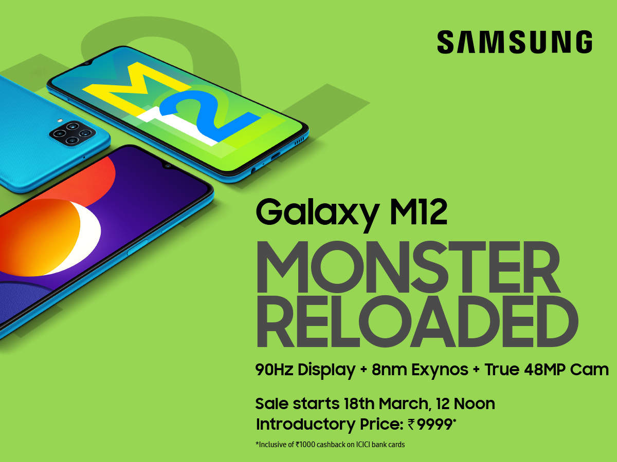 #MonsterReloaded Samsung Galaxy M12 has arrived!