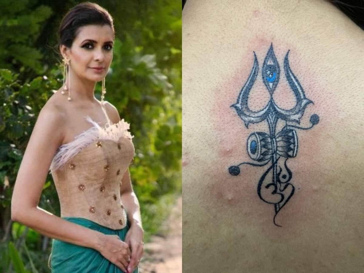 Mayanka Sharma with her Shiva Tattoo