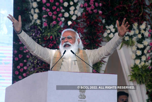 PM Modi flags off 'Dandi March'