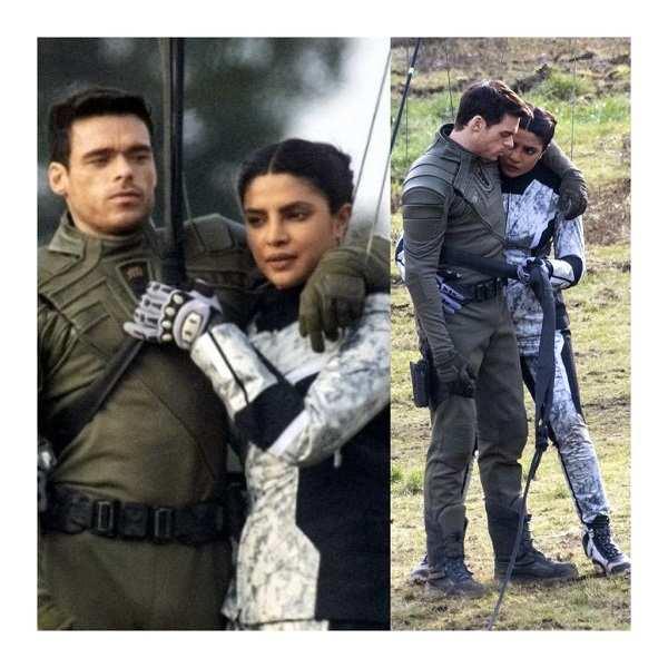 Priyanka Chopra Jonas spotted filming for her upcoming series Citadel with Richard Madden