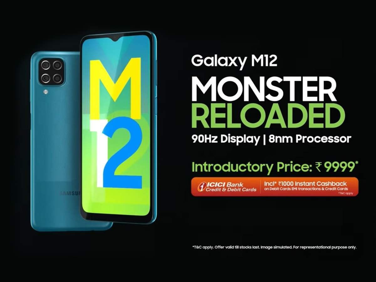 You canget the Galaxy M12 in under Rs 10k!