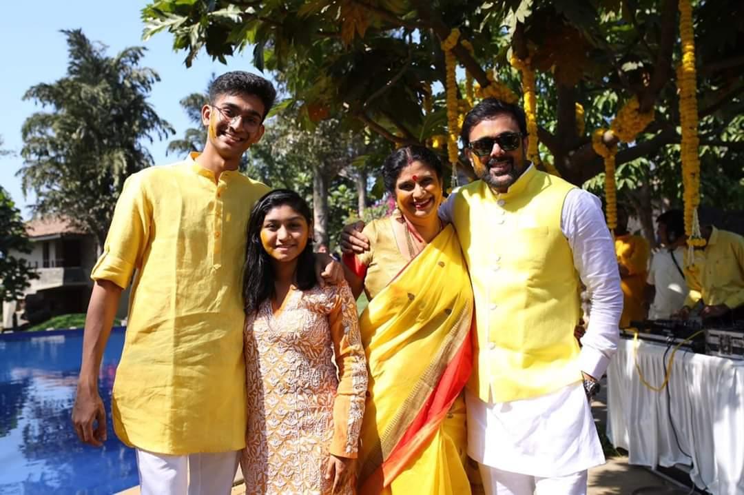 Sumeet Raghavan with his family.