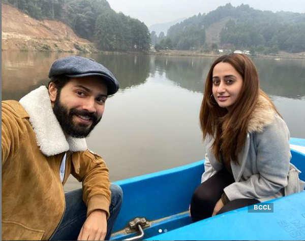 Varun Dhawan enjoys boat ride with wife Natasha Dalal in Arunachal Pradesh