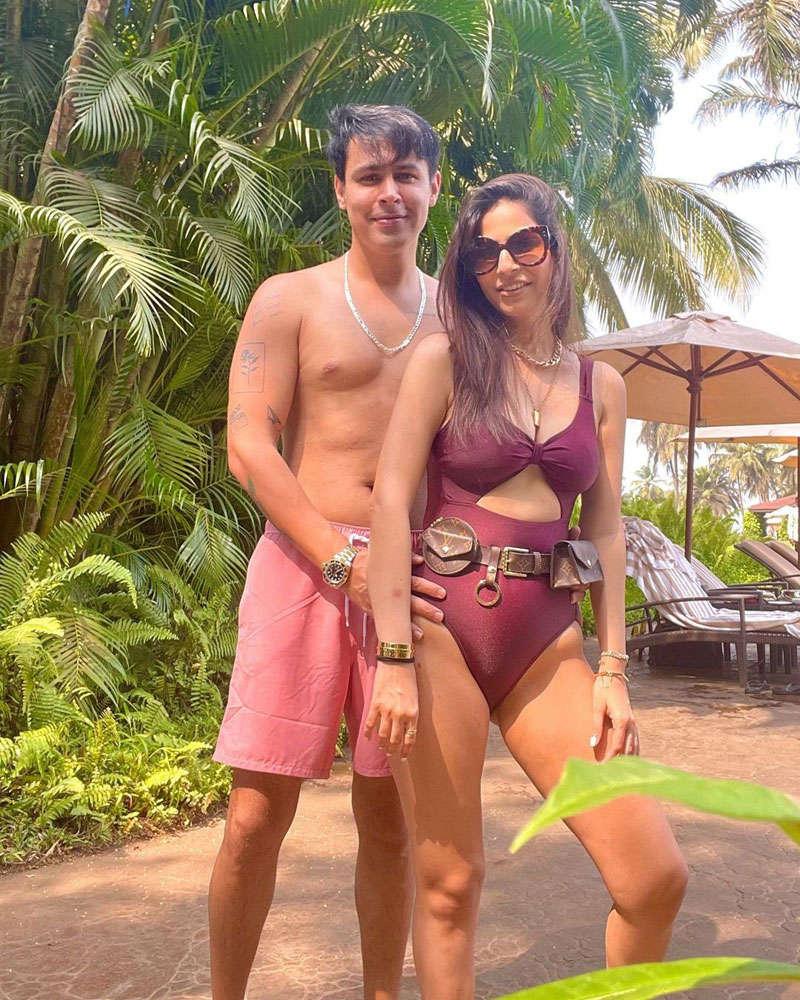Tera Yaar Hoon Main actor Ssudeep Sahir and wife Anantica holiday in Goa